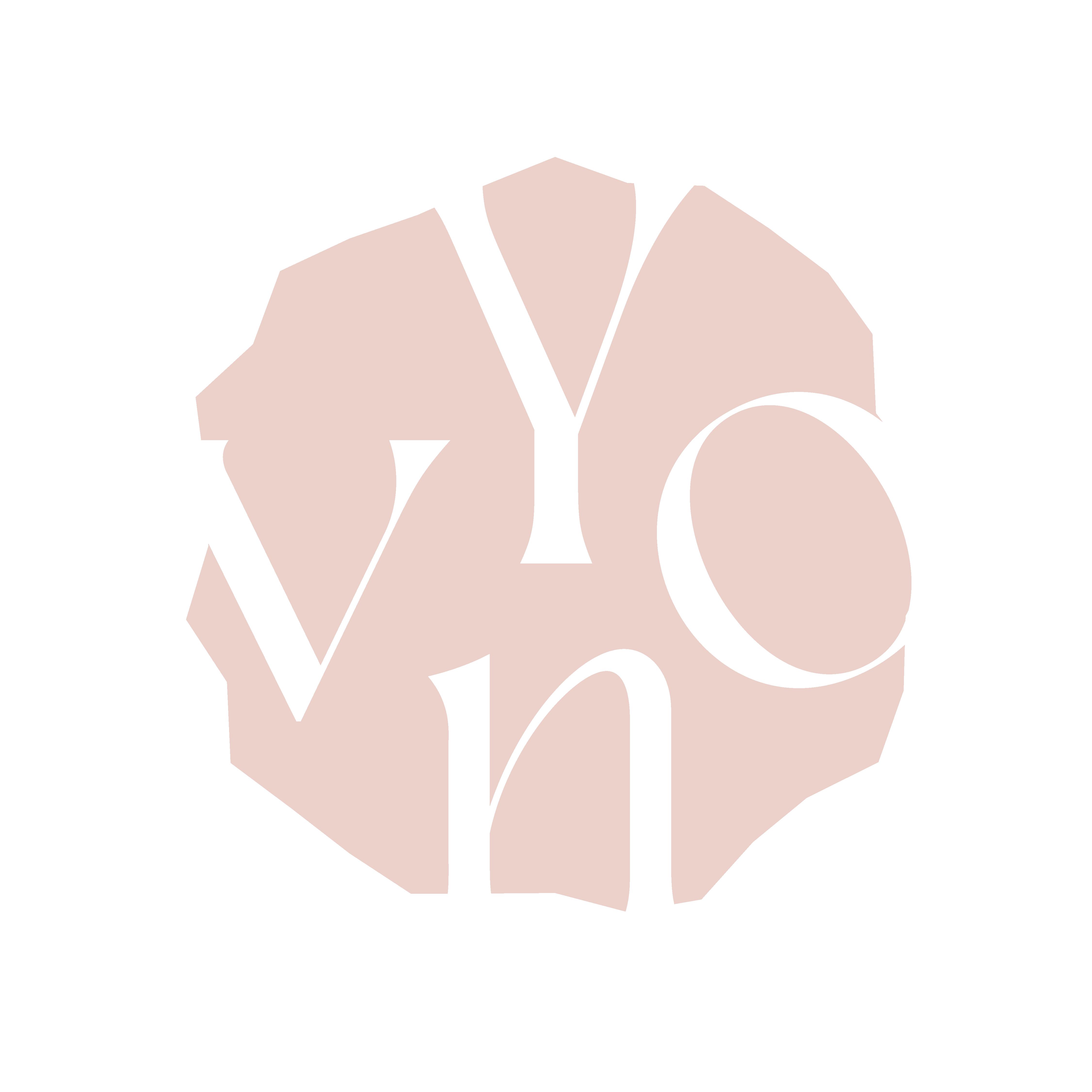 Logo Yvon van Bergen organic shape light nude